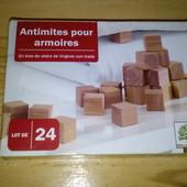 Набор 24шт. Натуральное средство от моли и освежитель для гардероба из древесины кедра Lidl Германия