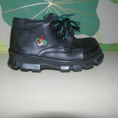 Добротные ботиночки JD, из натуральной кожи