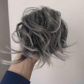 Резинка для волос. Синтетические волосы. Шиньон.