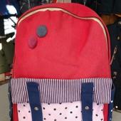 Рюкзак портфель для девочки котоновый розпродажа