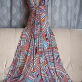 Длинное яркое платье сарафан, р. XS-S