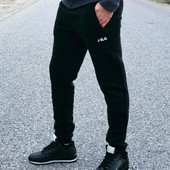 Мужские спортивные штаны Fila с манжетом! реплика. Качество!