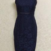 Шикарное кружевное платье - футляр от AX р.10. Новое.