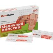 100 штук в упаковке. Пластырь медицинский 18*70 мм.