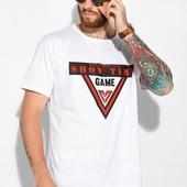Мужские футболки с принтом,раз.:4xl,5xl,6xl. 100%хлопок.