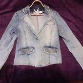 Джинсовая куртка ветровка размер 14