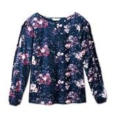 Яркая блуза с цветочным принтом из крепа Tchibo (германия) размер 40 евро=46-48