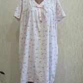 Трикотажная ночная рубашка ( хлопок ). Большой размер.