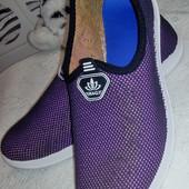 Широкая стопа! Мокасины-кроссовки 41 размер, стелька 27 см. Читайте пож. описание!