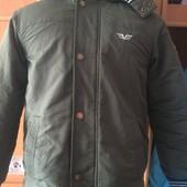 термо куртка, холодная весна, внутри флис, р. 11-12 лет 146-152 см, Manor. состояние хорошее