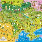 Детская карта Украины, Мира, солнечной системы.