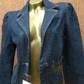Джинсовый пиджак/плотный ,мягкий