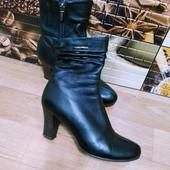 Натуральная кожа! Осенние утепленные ботиночки. Фирма Erisses. Размер 37р - 24,3см