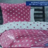 Двусторонний постельный комплект микрофибра-сатин. Под.135*200 и нав. 80*80, Meradiso