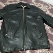 Мужская кожаная куртка,большой р-р, ПОГ 66 см, длина 89 см