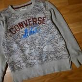 Толстовка свитшот Converse на 8-10 лет рост 128-140 см