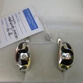 Отличный подарок!Изысканные сверкающие серебряные серьги- 925 пр. .Новые с биркой!
