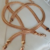 22 см! шикарный широкий браслет, оригинальное плетение, ширина 6.5 мм, позолота 585 пробы