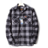 Фирменная тёплая мужская куртка-рубашка с карманами врезными,на весну! бренд Longhorn размер S,