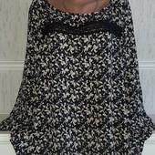 Шикарная блуза с кружевом в идеальном состоянии р-р 54