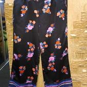 На пышные формы! Шикарные яркие нарядные атласные брюки Simply Be, c карманами р.20