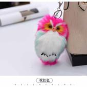 """чаровательный меховой брелок-игрушка """"Совушка"""". Украсит сумку, рюкзак, ключи"""