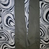 Коттоновые брюки хаки Blue Motion