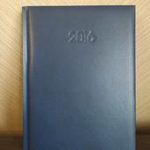 Новые блокноты в твердом переплете, кожзам тёмно-синий.