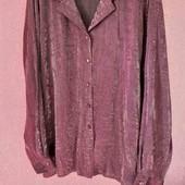 рубашка искусственный шёлк жатка на пышные формы