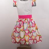 Платье детское хлопковое с модным рисунком