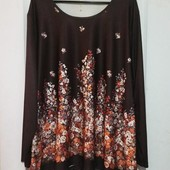 Изумительная блуза в цветочный принт на красивые формы 30/62