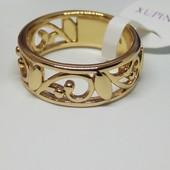 Красивая новинка ,кольцо с резным узором, позолота 18К, размер 17-17,5