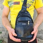 Мужская сумка бананка. Два цвета