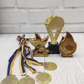 Комплект кубків і медалей без надписів