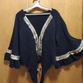 =Шикарная плотная теплая Блуза, состояние Новой! (уп скидка)
