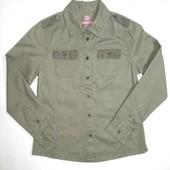 Pepperts Германия Плотная стильная рубашка 100% коттон 134р