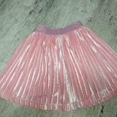 велюровая юбка плиссе для девочки