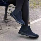 Демисезонные замшевые ботинки челси 38 размера