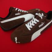 Кроссовки Puma Brown оригинал 38 размер (натур замша)