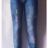Демисезонные лосины отличного качества эмитация под джинсы!!Размер 48-52!!Укр почта 5% скидка