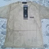 Распродажа! Спортивная футболка - сетка для мальчика, размер L, описание )