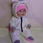 Комбинезон Единорог ! Из мягкого флиса для куклы Беби борн ростом 43 см.Или подобных кукол .