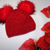 Обалденная шапочка для малышки 2-3 лет (почти не носили), зима