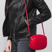 Яркая красная кросс-боди сумка Braska