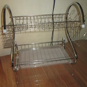 Сушилка сушка, подставка для посуды хромированная