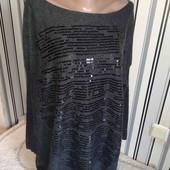 Чорний пуловер  з паєтками  (Пог -70)