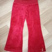 Червоні велюрові штанішки, стан нових, 10% знижка на УП