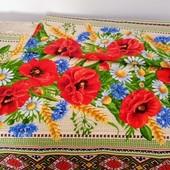 Маки! Набор ярких полотенец из хлопка отличного качества!