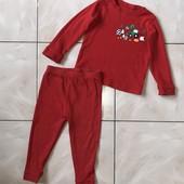 Стоп !❤ярко-красная фирменная пижама/костюм для сна и отдыха,2-3 года❤ Много лотов!