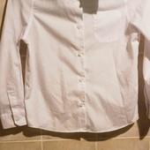 белоснежная рубашка на мальчика 9-10 л
